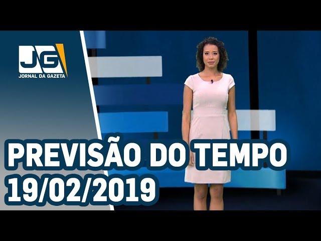 Previsão do Tempo - 19/02/2019