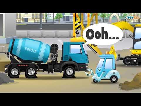 NEW Cement Mixer Truck Kids Car Construction Real Trucks For Children
