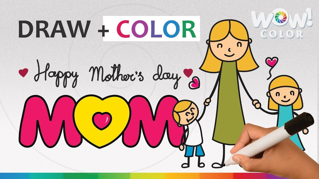 Mothers Day Mother Day Drawing Ideas For Kids Mothers Day Card