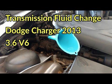 Transmission Fluid Change: Silent Vid . 2013 Dodge Charger V6.
