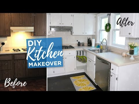 DIY Kitchen Makeover | Budget Kitchen DIY Remodel | Painted Cabinets | Before & After