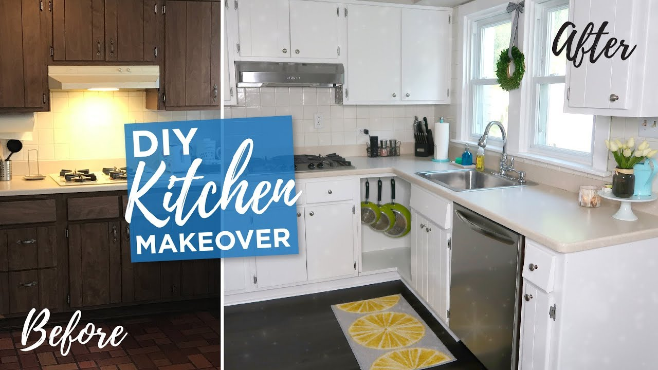 Diy Kitchen Makeover Budget Remodel Painted