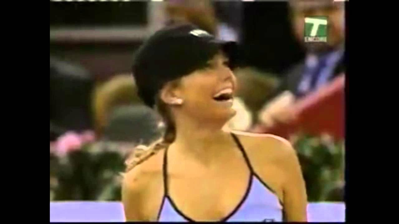 Novak Djokovic hits SEXY ball girl