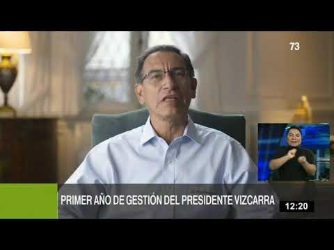 """Vizcarra: """"Durante estos doce meses, y a pesar de todas las dificultades, el Perú no se detuvo"""""""