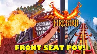 NEW! Firebird Roller Coaster! Front Seat POV Six Flags America 2019