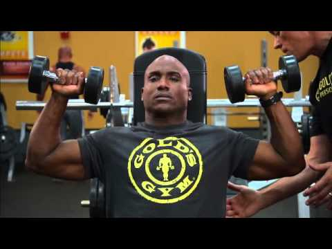 Ultimate 30-Minute Workout by Gold's Gym: Exercise 5 - Shoulder Press
