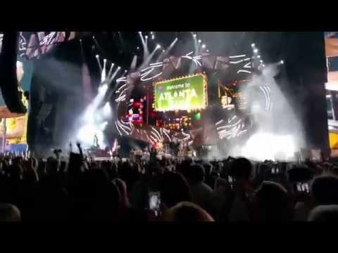 The Rolling Stones live opening Zip code Tour Atlanta, Ga 2015