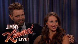 Jimmy Kimmel Talks to Bachelor Nick Viall & Fiancée Vanessa Grimaldi