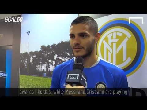 Icardi receives the Goal 50 award