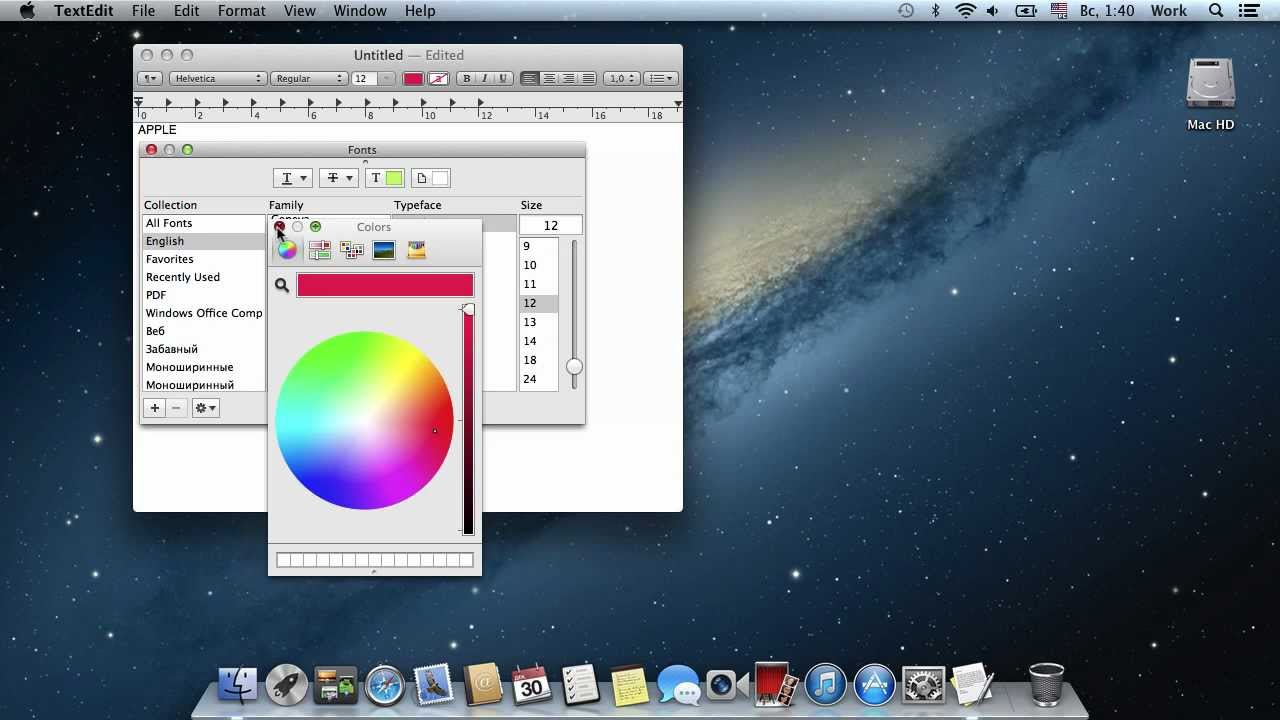 How To Set Font Size And Color On Mac