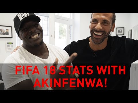 STILL THE BEAST OF FIFA? RIO TELLS AKINFENWA HIS FIFA 18 RATINGS!