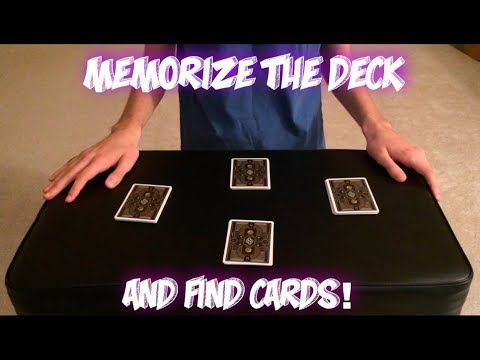 """""""Memorize"""" A Completely Shuffled Deck! Advanced Card Trick Performance/Tutorial"""