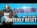 Destiny: July 4th 2017 Best Vendor Rolls This Week - July 4th Vendor Reset Recommendations