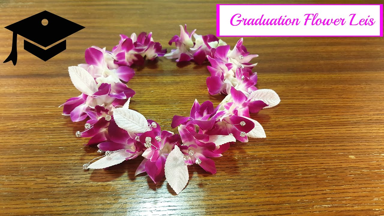 Graduation leis made with real flowers youtube graduation leis made with real flowers izmirmasajfo