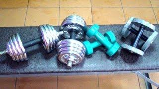 Комплекс упражнений с гантелями дома. 3
