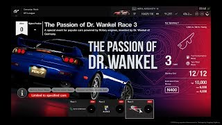 Gran Turismo™SPORT GT League The Passion of Dr. Wankel Race 3 Onboard