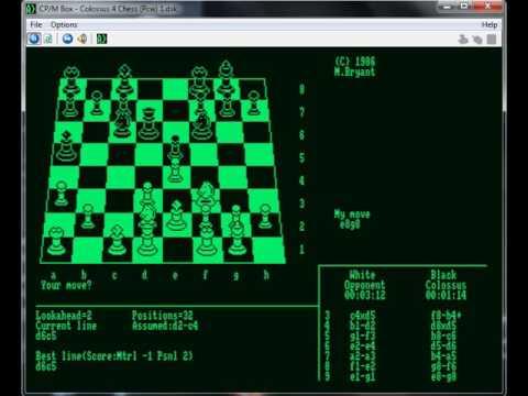 Colossus Chess 4 - Amstrad PCW - emulador CP-M Box 1.7.0 B - testeado Windows 7 x64