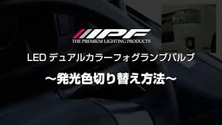 IPF デュアルカラーフォグランプバルブ切替操作方法