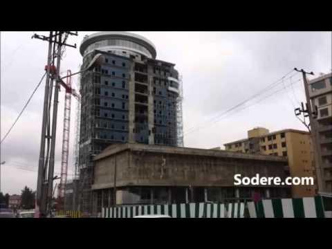 Ethiopia Addis Ababa 360 street view Hilton to Kazanchis to Bambis SD