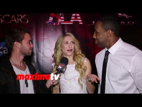 Allison Holker and Twitch Interview 7th Annual TOSCARS Awards Show Red Carpet