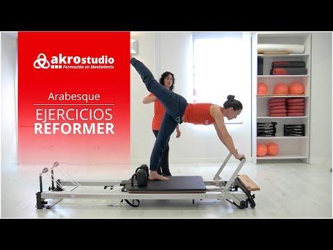 Pilates Reformer - Ejercicio Arabesque