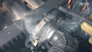 Плохая тяга двигателя и большой расход ? Ищем подсосы простым дымогенератором