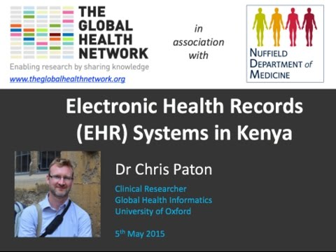 Dr Chris Paton - Electronic Health Records (EHR) Systems in Kenya