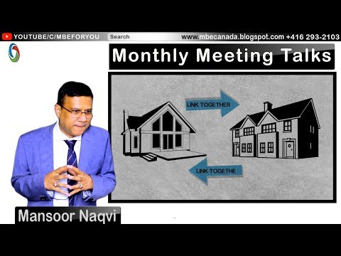 Syed Mansoor Naqvi | Monthly Meeting talks | MBE
