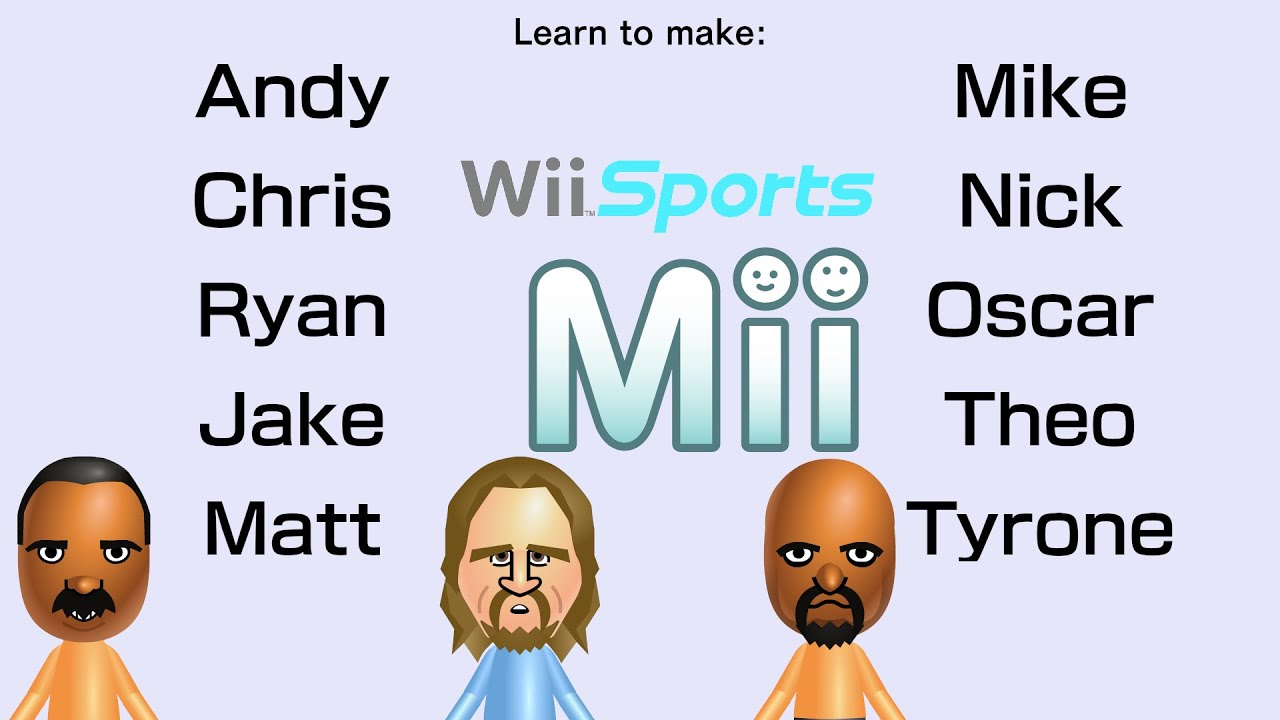 Remake Wii Sports Resort Miis 3 Youtube