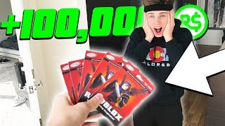 SURPRISING BEST FRIEND WITH $500 ROBUX GIFTCARDS (Roblox)