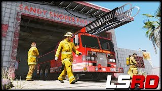 GTA 5 LSRD  | SANDY SHORES FIRESTATION - Deutsch - Grand Theft Auto 5 Los Santos Rescue Division