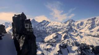 snow mountain panorama mountain peak alps glaciers aerial view senutoc