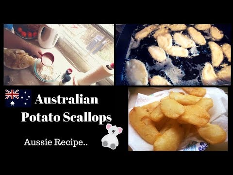 Australian Potato Scallops | Australian Recipe
