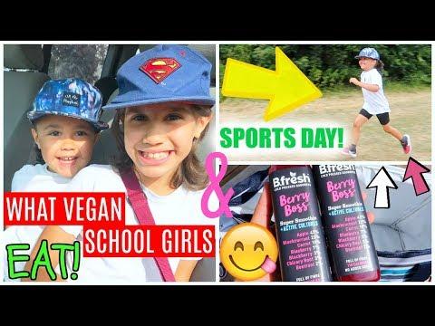 WHAT VEGAN SCHOOL GIRLS EAT + SPORTS DAY RACING!🏃♀️