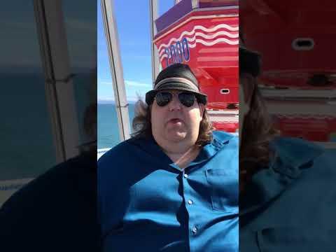 Joey Stuckey on the Pacific Wheel on the Santa Monica Pier