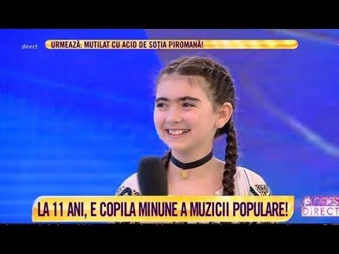 Este copila minune a muzicii populare, la doar 11 ani!