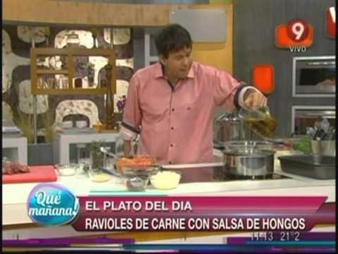 El plato del día: Ravioles de carne con salsa de hongos