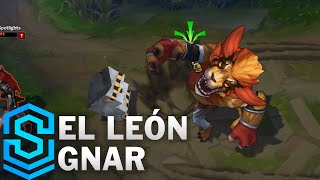 El Leon Gnar Skin Spotlight - Pre-Release - League of Legends