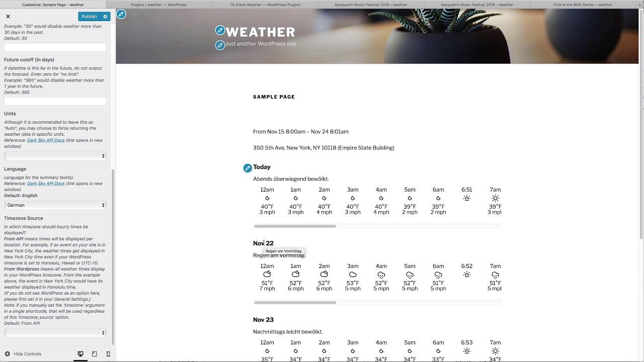 TK Event Weather – WordPress plugin | WordPress org