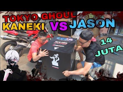 FIRST TIME UNBOXING SUPER STATUE TOKYO GHOUL KANEKI VS JASON by FIGURAMA!! LICENSE 14 JUTAAN..