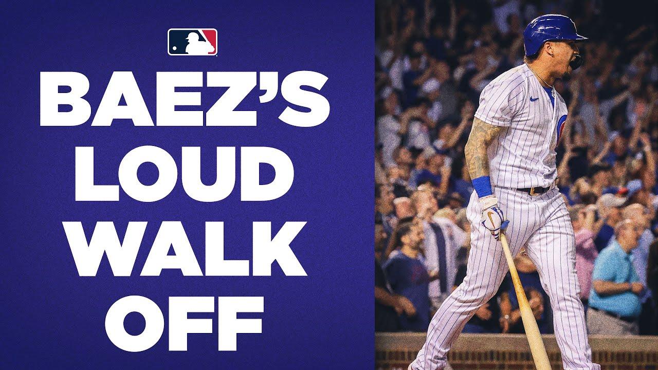 Javy Báez PUMPED after blasting Cubs' walk-off hit vs. Reds!
