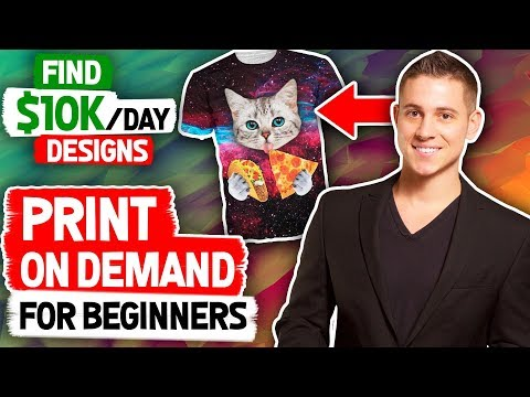 Shopify Print On Demand For Beginners | How to Find $10k Designs (HACKS)