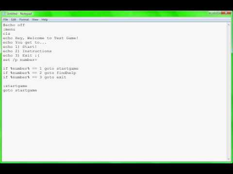 how to make a game in notepad youtube