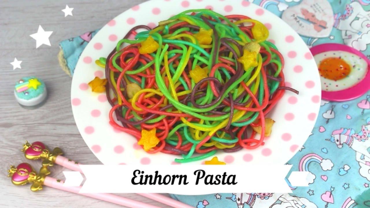 Bunte Einhorn Pasta Rainbow Pasta Youtube