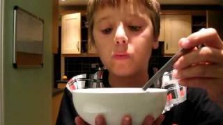 Jack Harris eating cereal Video