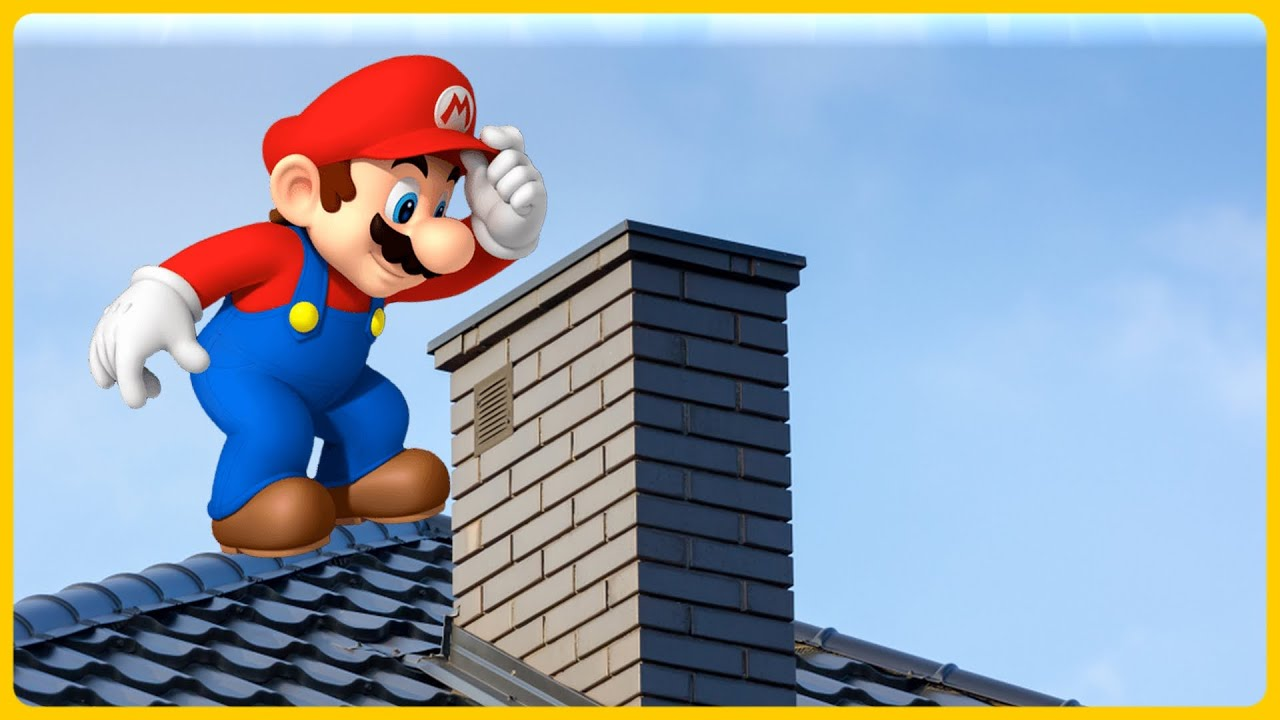 Mario GOES DOWN A CHIMNEY!