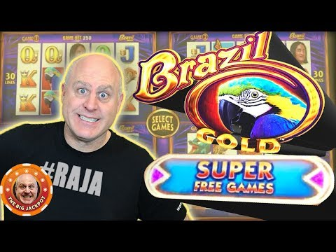 ✦ MAX BET! ✦ NEW Wonder 4 Brazil Gold Slot 🎰 Super Free Games! - The Big Jackpot - 동영상