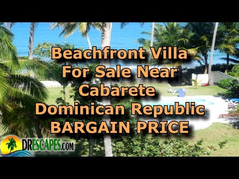 Caribbean Oceanfront Villa At Bargain Price - Near Cabarete Dominican Republic