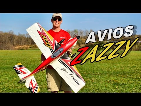 Avios Zazzy Sports RC Plane 1300mm Maiden Flight - TheRcSaylors