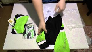Cycling gloves and clothing+bib shorts / Велосипедные перчатки и одежда с AliExpress